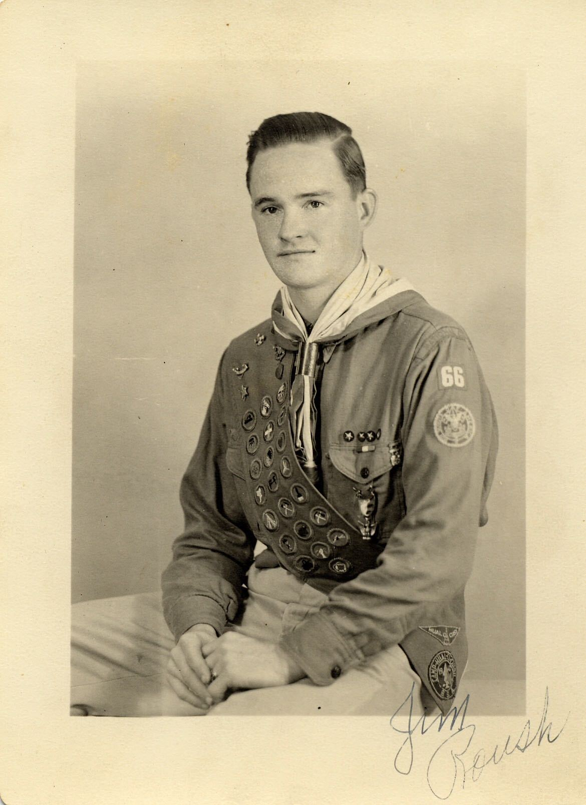 My grandfather, James Chester Roush, in his Eagle Scout uniform