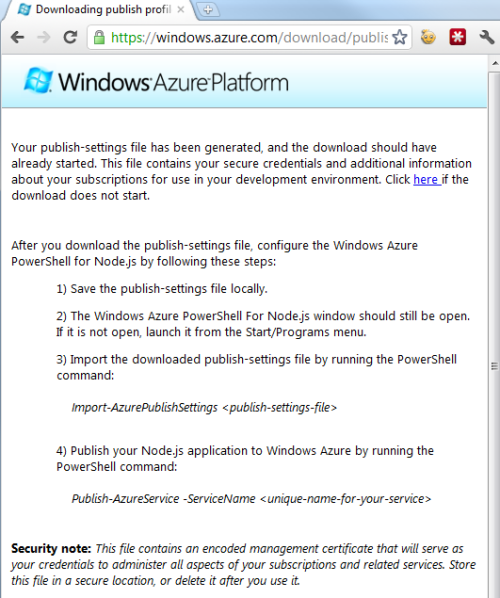 Node JS on Windows Azure Part 1: Setting Up Your Environment
